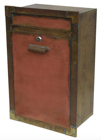 Copper Locking Mail Box