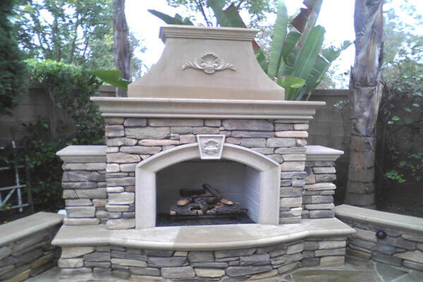 Outdoor Fireplaces Made Of Precast Gfrc Pacific Stone Design Inc