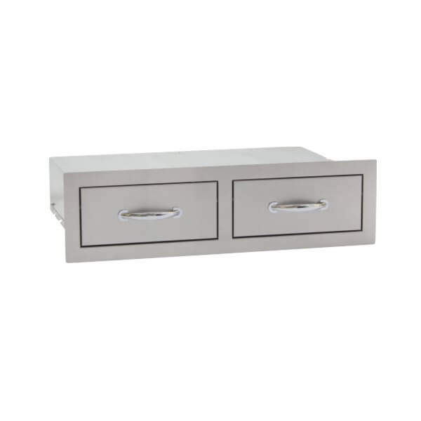 Summerset Stainless Steel Double Horizontal Drawer